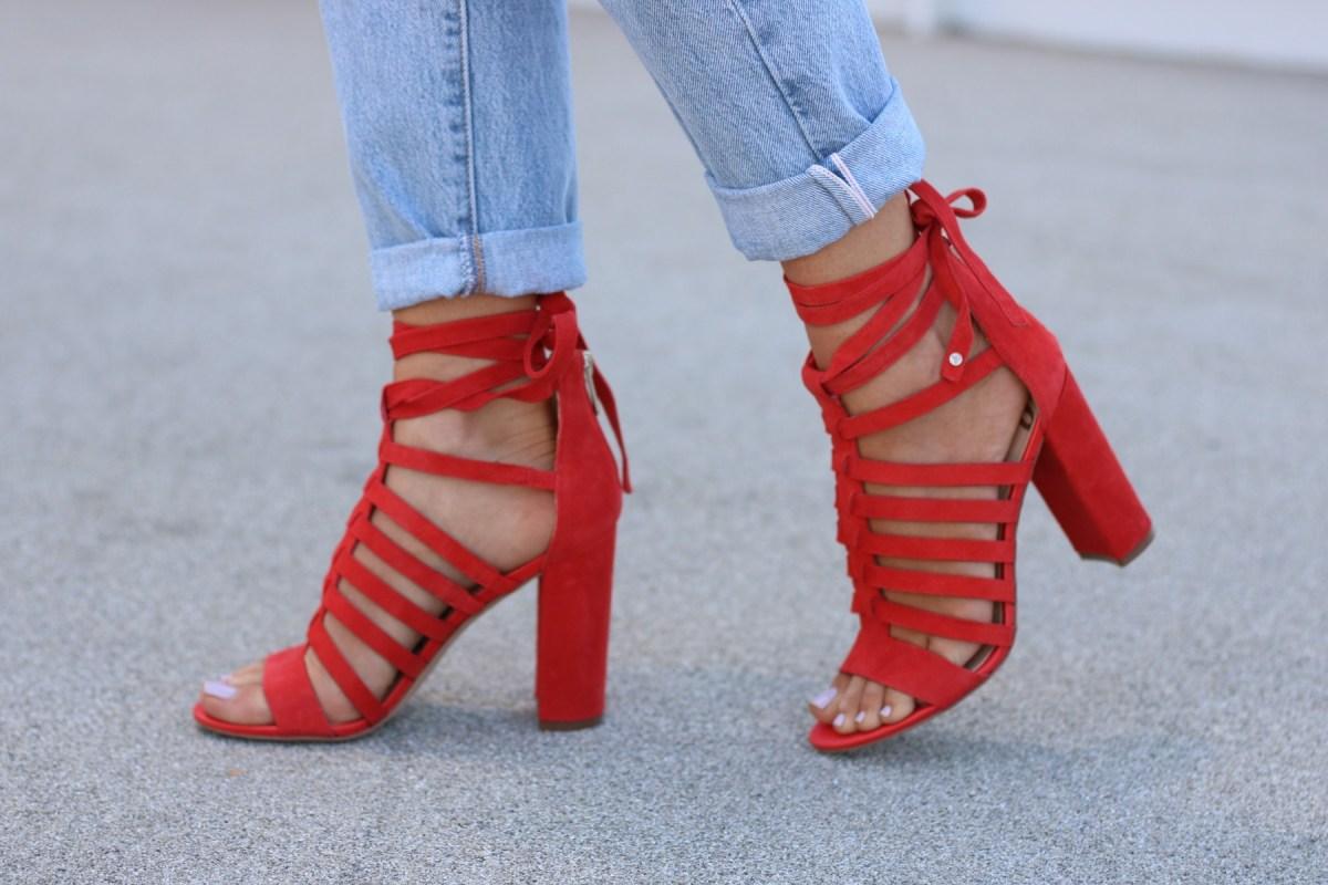 Red Heels   denim jeans