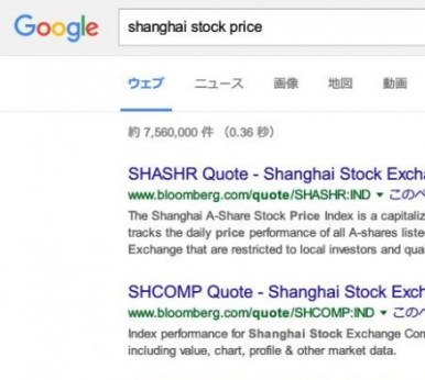 shanghai stock price - Google 検索 -