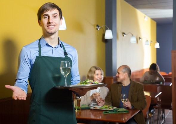 海外レストランで英会話をするイメージ