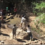 Previous water source for Kampi Ya Moto, the source of sickness and death