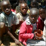 younger primary students in Kampi Ya Moto