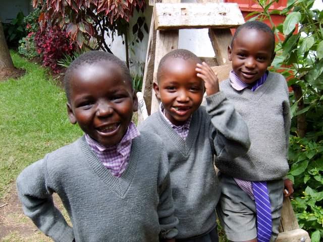 Schoolboys from Lanet Umoja Primary School