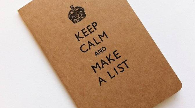 "Lists notebook ""Keep Calm and Make a List"""