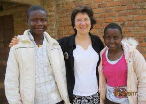 John, Ruth and Synthia in Migori County, Kenya