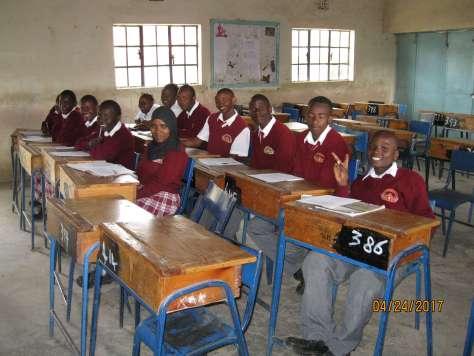 EC students sitting in a classroom in Kenya