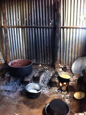Kitchen in Kampi Ya Moto for feeding the hungry