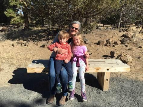 Board of Directors Nancy Brink with her two grandchildren