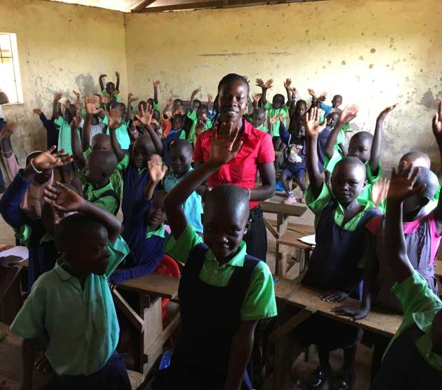 The Lord has something to say: smiling children at Miruya Primary school