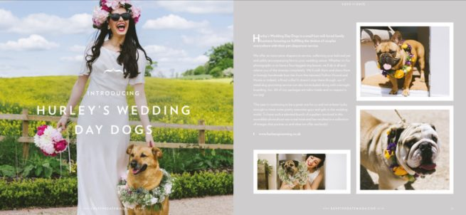 Hurley's and everyoneslookingrosie featured in save the date magazine