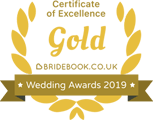 Bridebook Wedding Awards 2019 - Gold Certificate