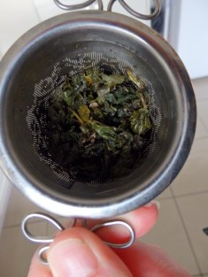 Oolong after brewing
