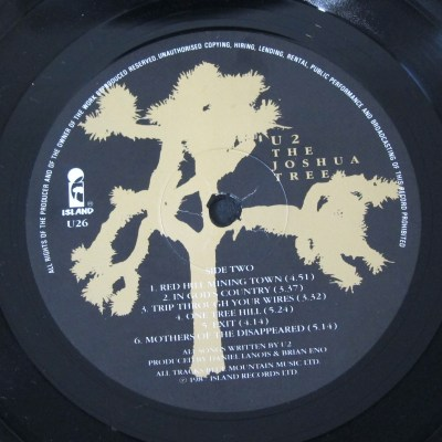 U2 Joshua Tree Island Records label – Every record tells a ...
