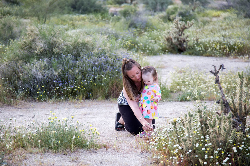 superbloom at dusk : mother/daughter portrait