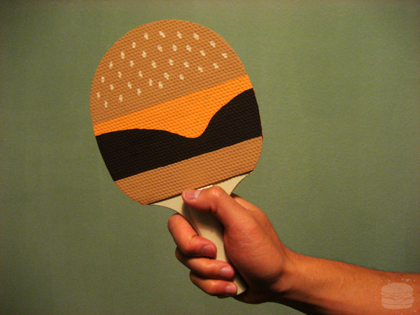 An Epic Burger Ping Pong Paddle