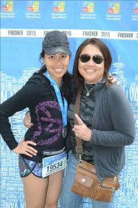 My mom and I - photo by MarathonFoto