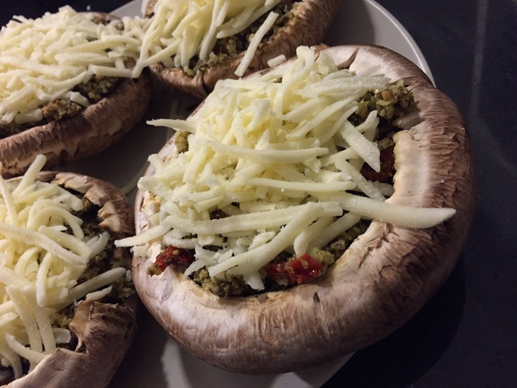 Top with shredded mozzarella cheese