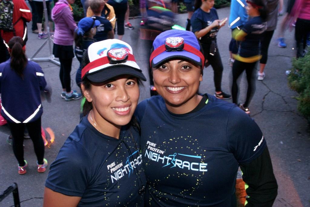 Zahra and I at the start - photo by Carmen Marin