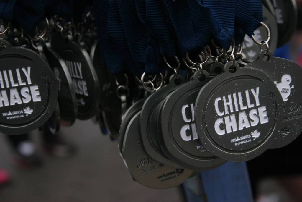Chilly Chase medals - photo by Carmen Marin