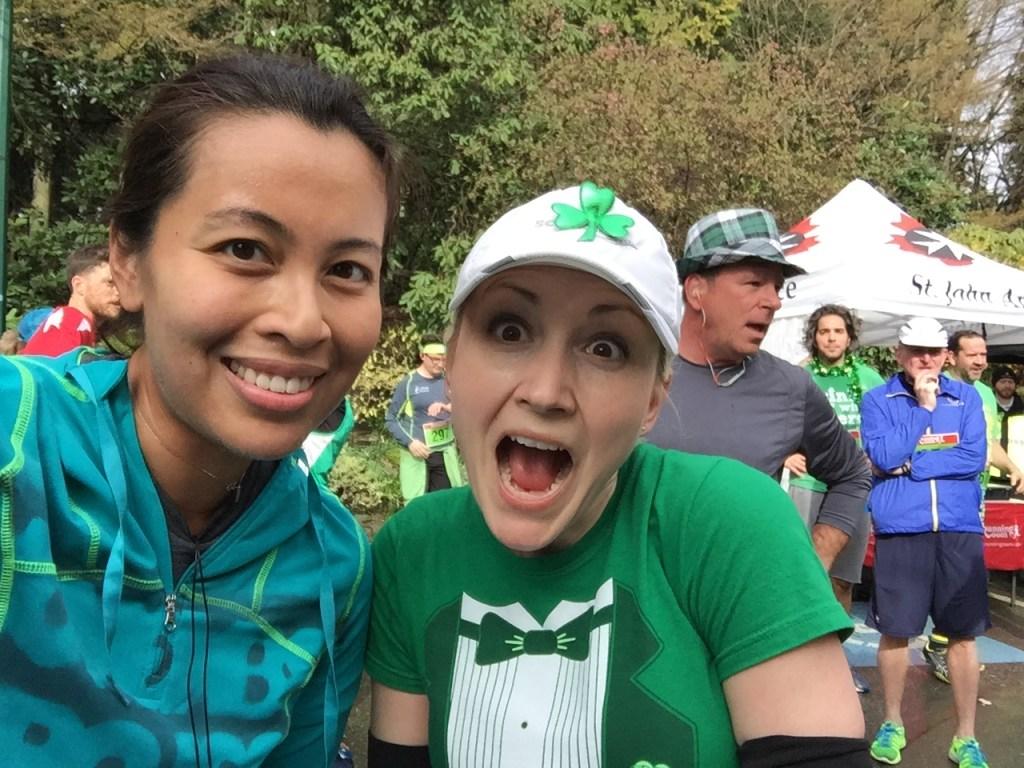 Christina and I at the BMO St. Patrick's Day 5k 2016