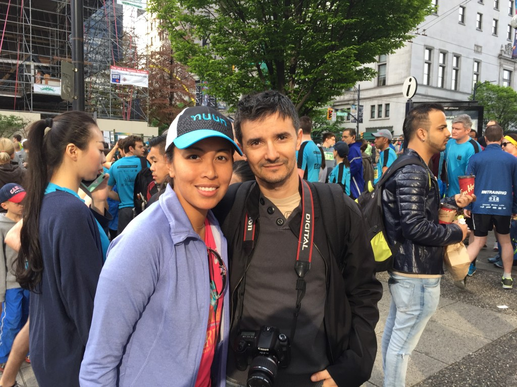 Cuski and I at the Vancouver Sun Run