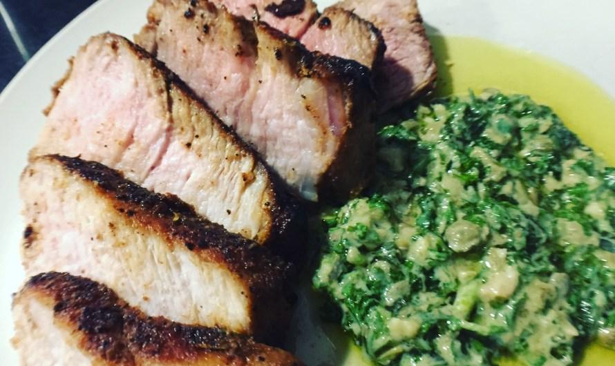 Easy Recipes: Carrot-Top Pesto, Smoky Chicken Enchiladas, & Cajun Spice Pork Chops