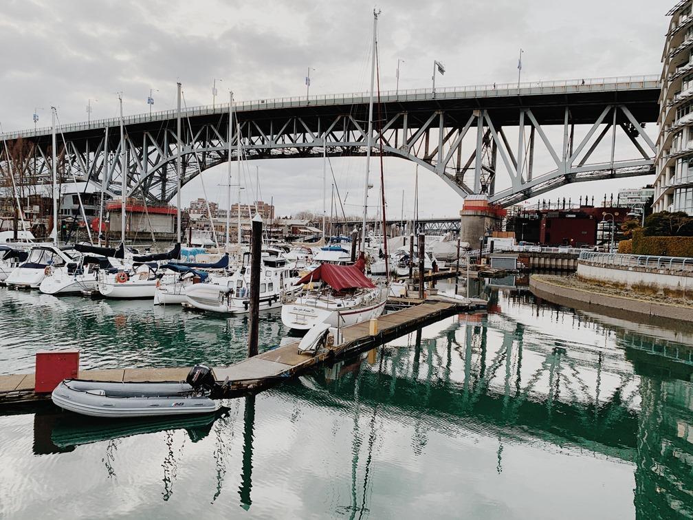 Granville Bridge from the False Creek Seawall