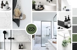 Moodboard badkamer minimalistisch scandinavisch