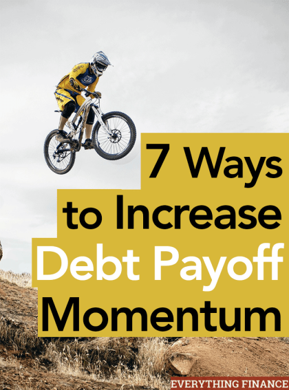 Are you tired of paying off debt? What should you do when your motivation to pay it off slows? Here are 7 ways to increase debt pay off momentum.