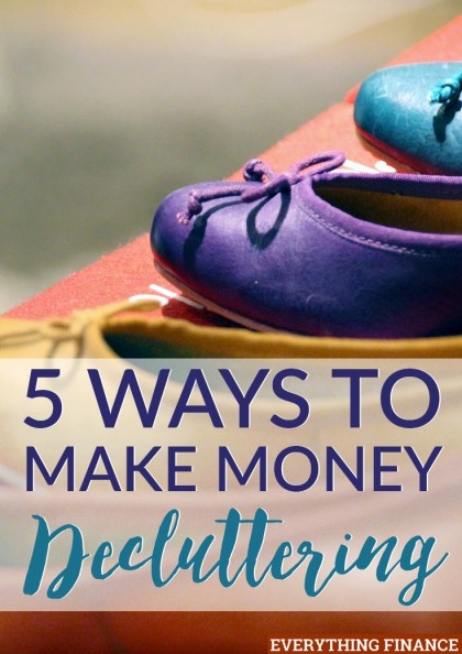 Cleaning out your house is a great feeling, especially when you can make money decluttering. Here are 5 ways you can make money selling your unwanted stuff.
