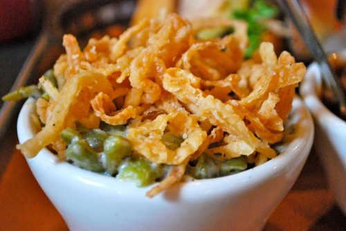 Green bean casserole - cheap and easy Thanksgiving food