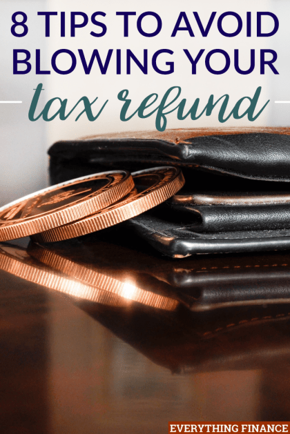 "Do you waste your tax refund? It may be because you think of it as ""extra"" money. But it isn't! Here's how you can avoid blowing your tax refund this year."