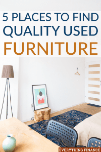 It's no secret that furniture is expensive. If you're trying to save money, one of the most common solutions is to resort to used furniture.