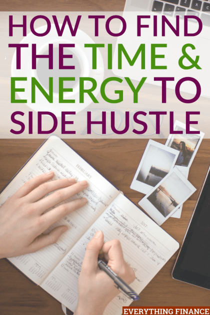 Have you found a side hustle you're interested in but just need to find the time and energy to get started? These tips will help you.