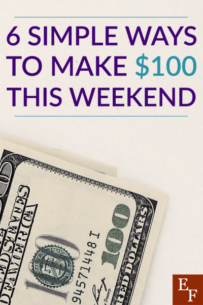 Need extra cash? With a little creative thinking, you can work towards earning that money quickly! Here are 6 ways you can make $100 this weekend.