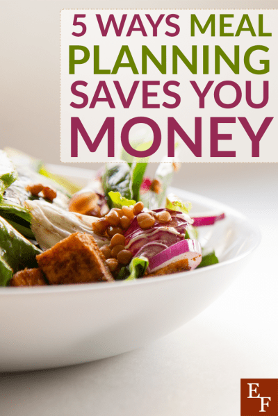 Meal planning may seem difficult at first, but once you get in to the habit, it can help you save big money every single week!