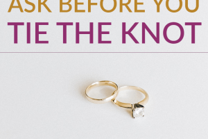 Before tying the knot, it's important to know your spouse's financial background and habits. Here are six important questions to ask before the wedding.
