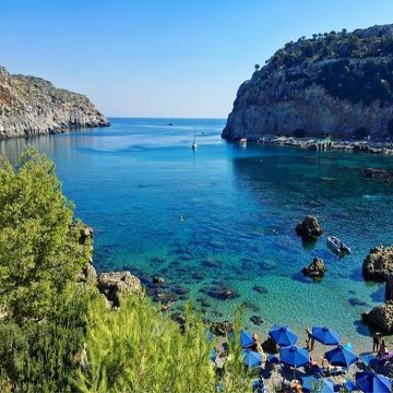 Anthony Quinn Beach Faliraki Rhodees Greece