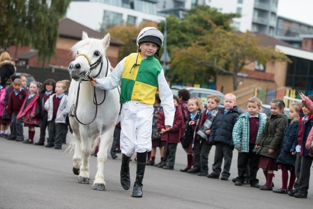 Liverpool International Horse Show competition launch - St Vincent de Paul Primary School, Liverpool, United Kingdom - 16 October 2015