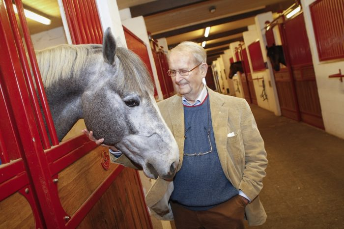 Leon Melchior, founder of the world-renowed Zangersheide Stud, who has passed away at the age of 88. (FEI/Dirk Caremans)