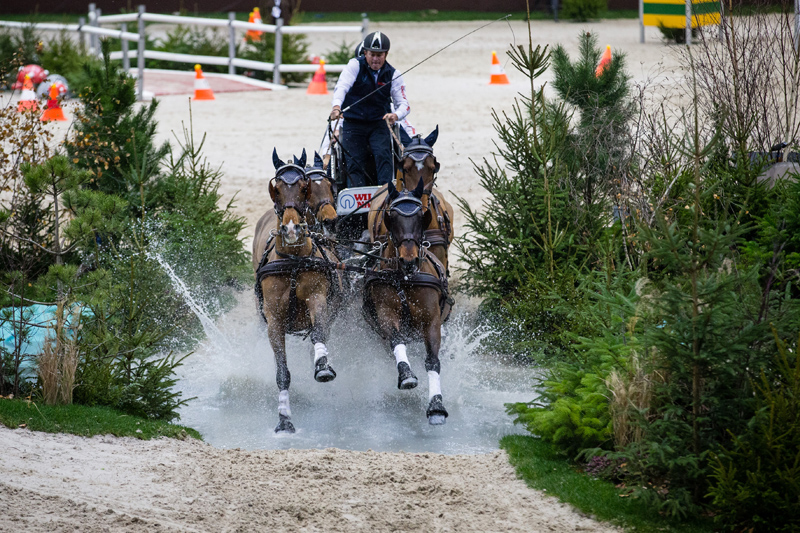 Boyd Exell won the FEI World Cup™ Driving Leg in Geneva for the eighth time in his career (FEI/Eric Knoll)