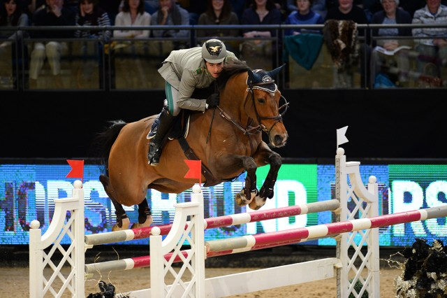 Liverpool, United Kingdom - 2016 January 1:   during CSI 4* - 1,45 competition at CSI2*/4* Liverpool International Horse Show at Echo Arena. (photo: © Herve Bonnaud)
