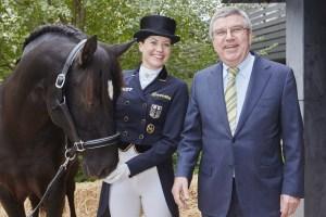Kristina Broring Sprehe & IOC President Thomas Bach