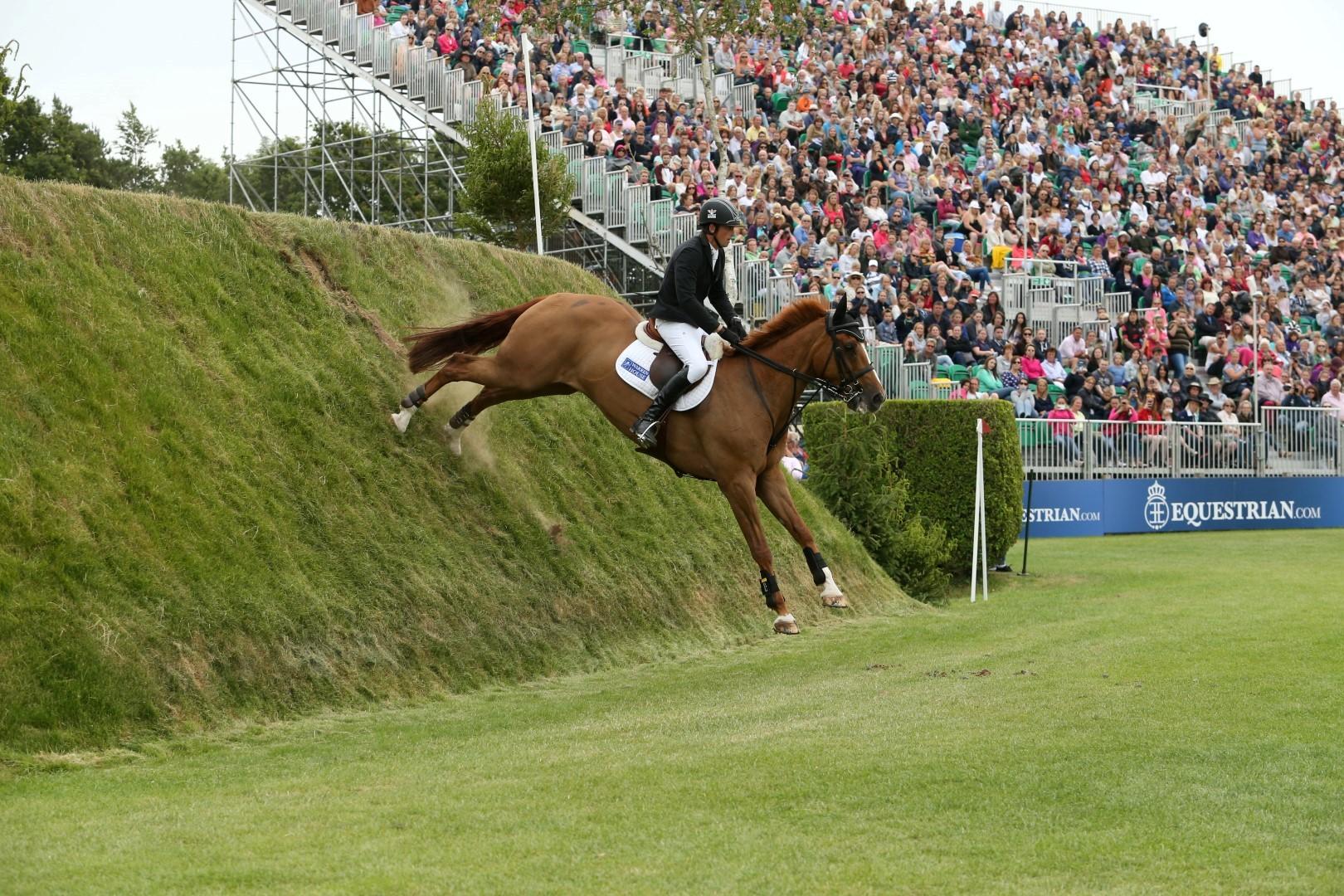 Trevor Breen and Loughnatousa WB, winners of the 2015 Equestrian.com Derby (c) Julian Portch