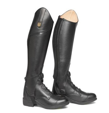 MOUNTAIN HORSE CARBON LEATHER HALF CHAPS - ADULTS