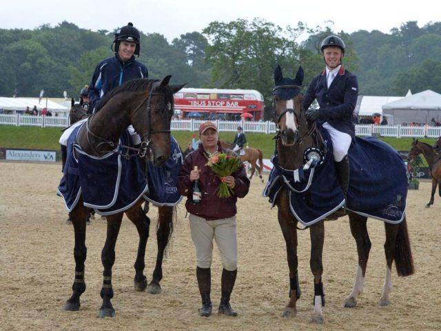 Jockey Challenge winners  Nick Schofield and Matthew Sampson