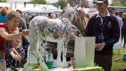 World Horse Welfare Visitors painting the peoples horse