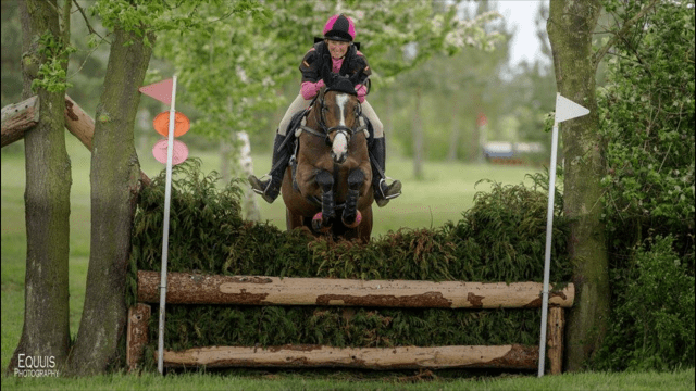 Alberta's Pride enroute to a 2nd place in the Riding Club 90 qualifier