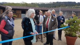 Author Gilly Cooper Officially Opens High Dependency Unit for Horses
