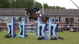 Pippa and Hope Springs in the Mattie Brown stakes at Nottinghamshire County show.