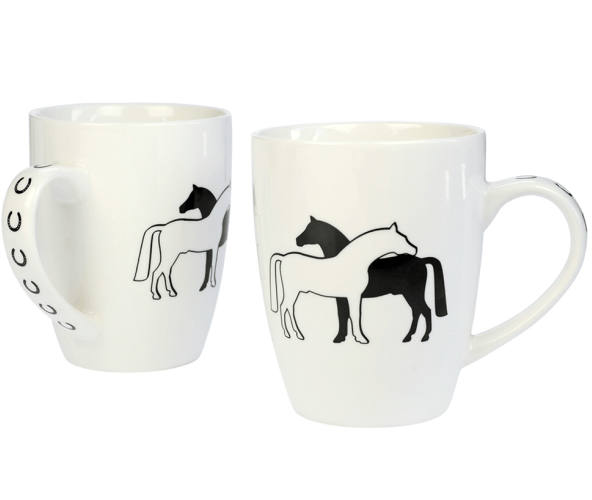 HappyROSS Horse Mugs--Set of 2 complete with gift box